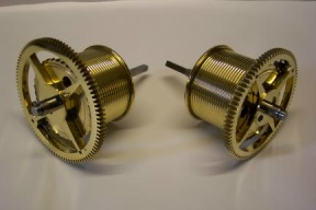 image, A Pair Of Great Wheels And Barrels For An 8 Day Movement
