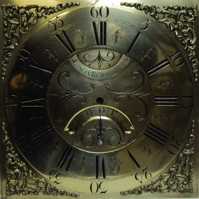 image,a brass dial by Lomax of Blackburn
