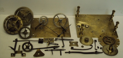 image,clock parts ready for restoration
