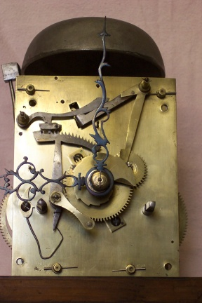 image, picture of another 8 day clock movement restored in our workshops